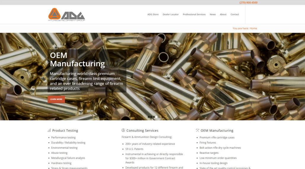 Atlas Development Group website home page screen shot