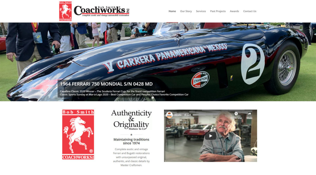 Bob Smith Coachworks website home page screen shot