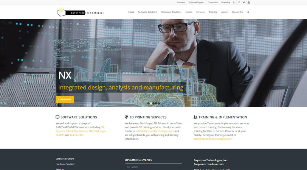 Daystrom Technologies website home page screen shot
